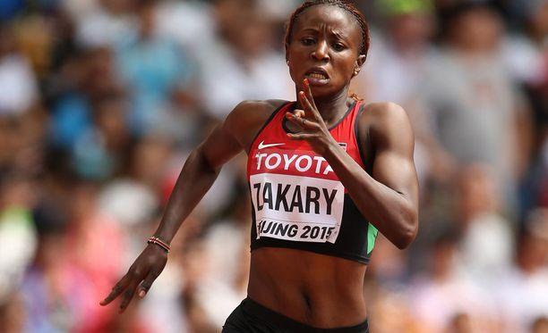 Joyce Zakary putosi 400 metrin välieristä.