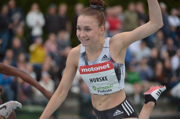 Reetta Hurskeella oli murheita Espoossa sunnuntaina.