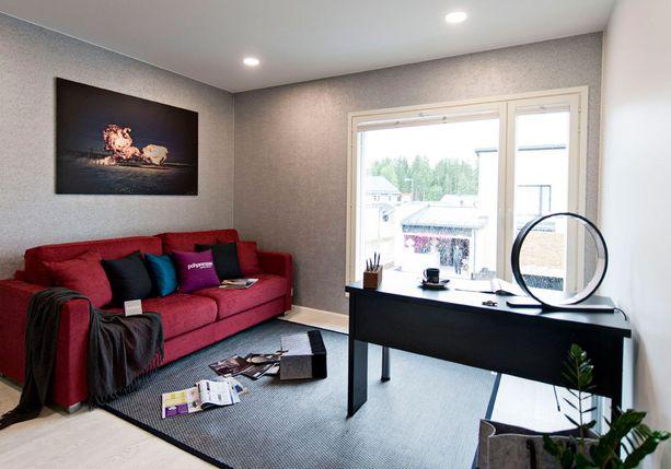 Yhdessä makuuhuoneessa on Ville Juurikkalan ottama kuva Duudsonit Amerikassa -sarjan kuvauksista.