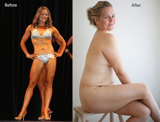 Taryn Brumfitt julkaisi kuvaparin rohkaistaakseen kaikenlaisia naisia arvostamaan kehojaan.