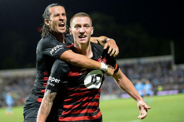 Western Sydney Wanderers (kuvassa) kohtaa Sydney FC:n