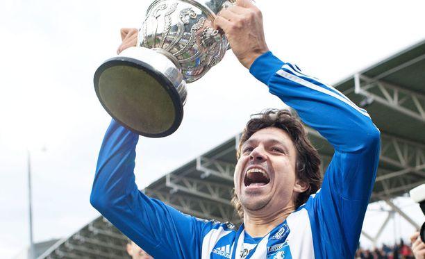 Jari Litmanen ratkaisi Suomen cupin voiton HJK:lle 2011.