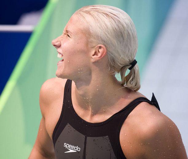 Hanna-Maria Seppälä kauhoi neljänneksi 100 metrin vapaauinnin finaalissa.
