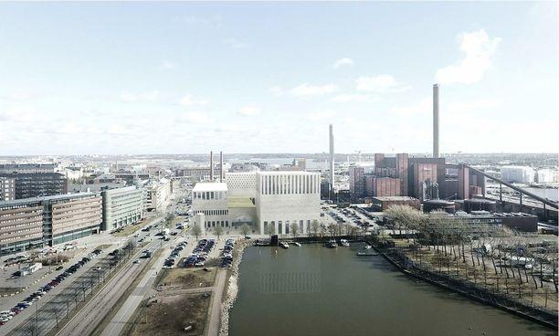 Havainnekuva Helsinkiin suunnitellusta suurmoskeijasta.