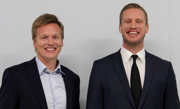 Pelaajauransa päättäneet Esa Pirnes ja Ossi Väänänen siirtyvät Viasatin studioon.