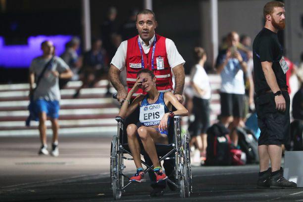 Italian Giovanna Epis oli yksi juoksijoista, joka joutui jättämään kisan kesken.