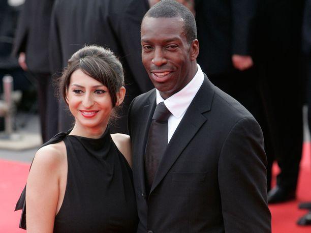 Michael Johnson vaimonsa Kerryn kanssa Barcelonassa vuonna 2006.