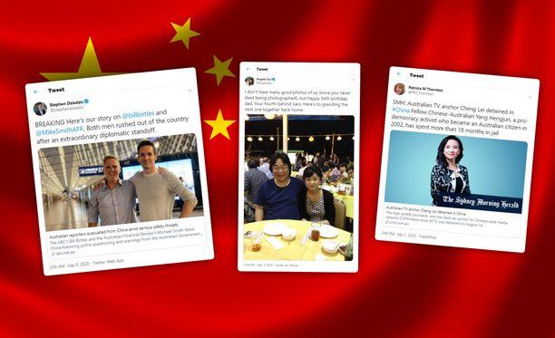 """Yhdysvallat ja Australia ovat varoittaneet kansalaistensa """"mielivaltaisista"""" pidätyksistä Kiinassa."""