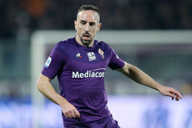 Franck Ribery pelaa ensimmäistä kauttaan Fiorentinan joukkueessa.