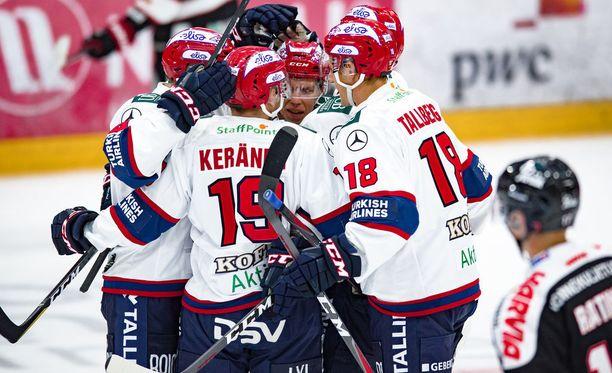 HIFK juhli Jyväskylässä jatkoaikavoittoa.