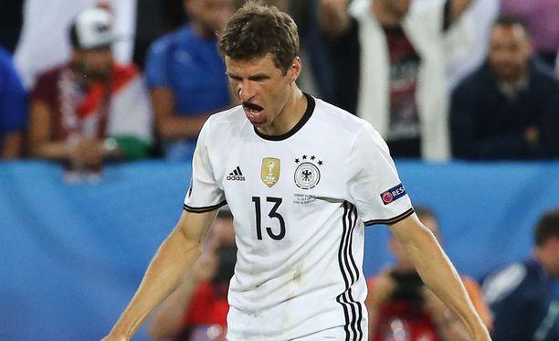 Thomas Müller antoi itselleen huutia.