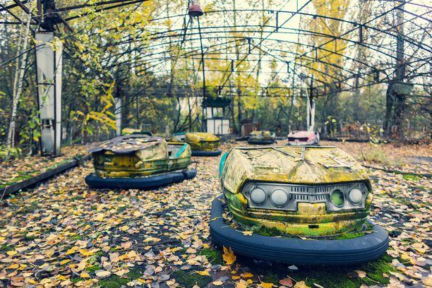 Pripjatin hylätystä huvipuistosta on levinnyt paljon kuvia maailmalle. Siitä on tullut yksi tuhon symboleista.
