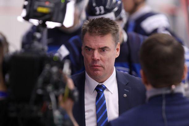 Raimo Helminen pettyi raskaasti MM-välierän jälkeen. Arkistokuva.