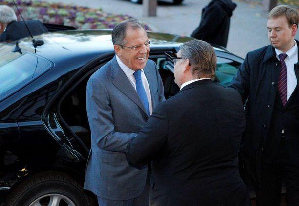 Ulkoministerit Sergei Lavrov ja Timo Soini tapasivat keskiviikkona Oulussa.