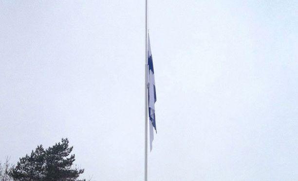 Porin prikaatissa järjestettiin suruliputus kuolleen reserviläisen muistoksi lokakuussa 2016.