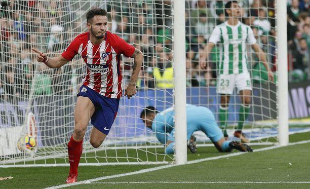Saúl nousi ratkaisijaksi Benito Villamarín -stadionilla.