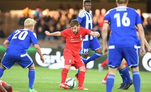 Liverpool kävi hakemassa 2-0-voiton Helsingistä.