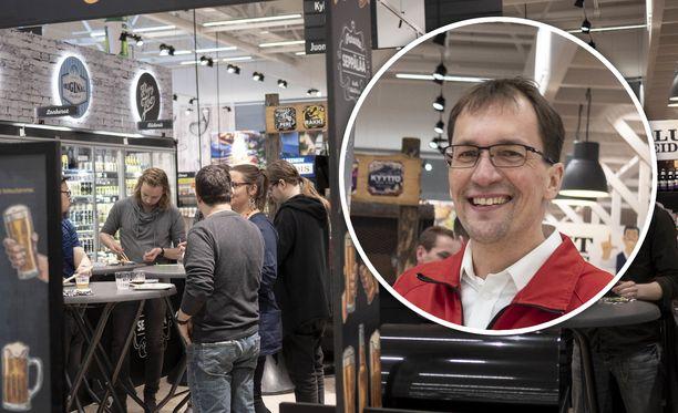 Kauppias Vesa Nurminen halusi panostaa K-Citymarket Seppälän uudistumisen yhteydessä pienpanimo- ja erikoisoluiden valikoimaan ja esillepanoon. Liike juhlistaa sitä pop-up-ravintolatempauksella.