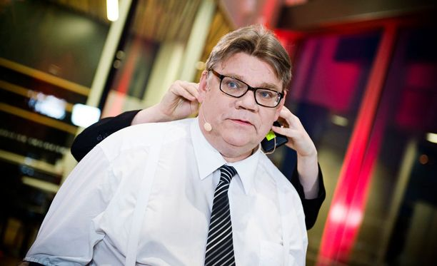 Timo Soini Iltalehden vaalitentissä vuonna 2015.
