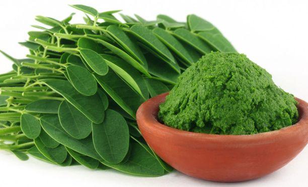 Moringa-puun käytetyintä ainesta ovat sen lehdet.