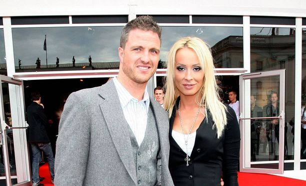 Ralf Schumacher ja nyttemmin entinen vaimo Cora kuvattuna vuonna 2008.