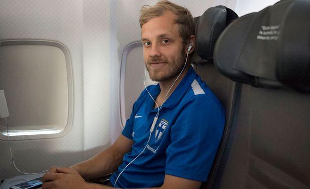 Teemu Pukki lensi Reykjavikiin.