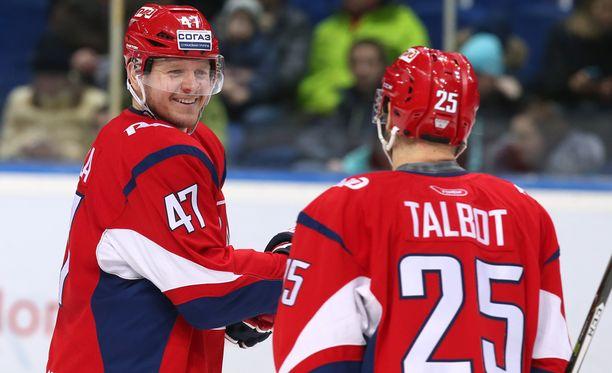 Petri Kontiola pelasi hyvän kauden Lokomotiv Jaroslavlissa ja tykitti 40 (18+22) tehopistettä runkosarjassa.