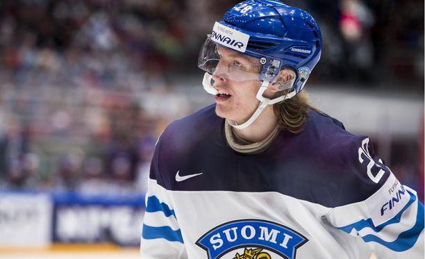 Patrik Laine on tehnyt MM-kisoissa viisi maalia. Suomi kohtaa sunnuntai-iltana Slovakian.