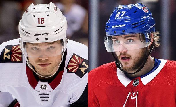 Max Domi (vas.) ja Alex Galchenyuk vaihtoivat joukkueita.