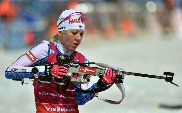 Kaisa Mäkäräinen jäi 40 parhaan ulkopuolelle Oberhofissa.