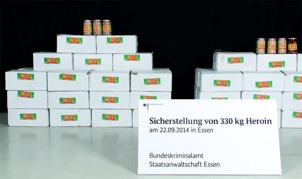 50 miljoonan euron arvoisten huumeiden takavarikko on Saksan ennätys.
