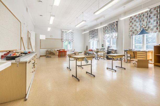 Tältä näyttää porvoolaisen koulun luokkahuone.