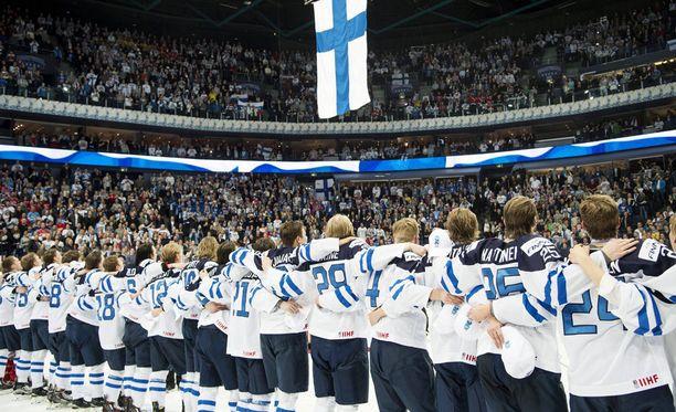 Suomi juhli viime tammikuussa kotikisojen MM-kultaa.