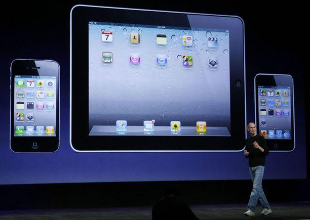 iPhone (vas.), iPad ja iPod Touch.