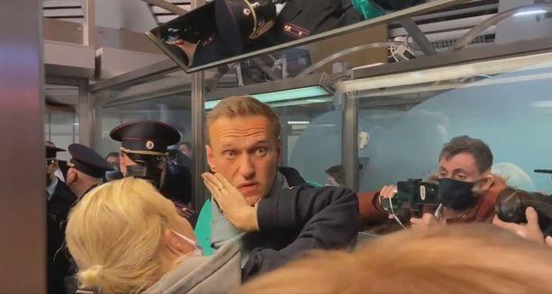 Aleksei Navalnyi saapui Moskovaan sunnuntaina.