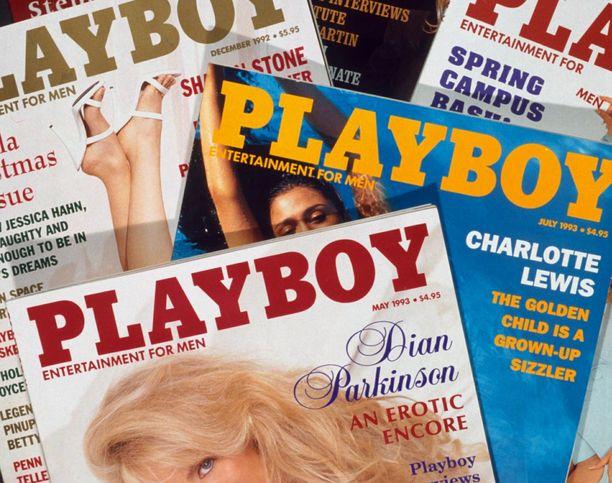 Aikakauslehti Playboy lopettaa paperilehtensä. Kuvassa lehden kansia vuosilta 1992 ja 1993.