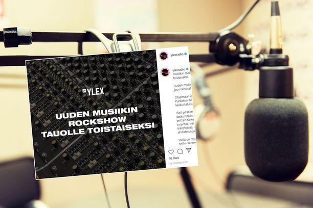 YleX:n radio-ohjelma jää toistaiseksi tauolle.