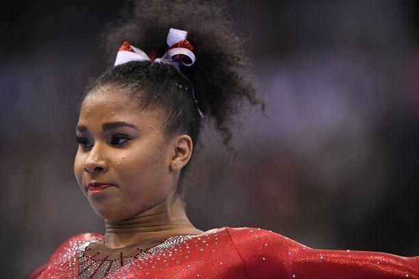 Jordan Chiles edustaa USA:ta Tokion olympialaisissa.