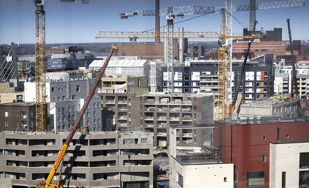 Muun muassa rakennusala on Suomessa ollut nosteessa.