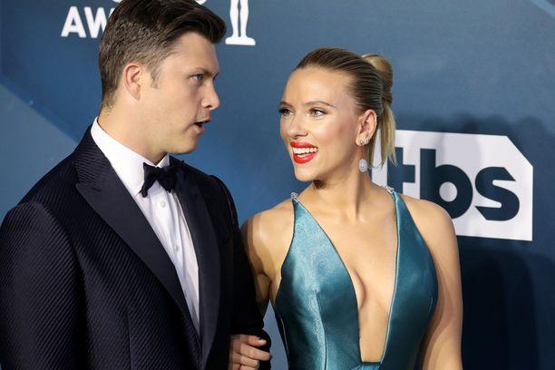 Scarlett Johansson ja Colin Jost avioituivat viime syksynä. Lapsi on parin ensimmäinen yhteinen.