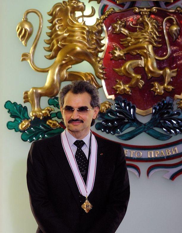 Pidätetty prinssi Al-Walid bin Talal on Saudi-Arabian rikkain henkilö.