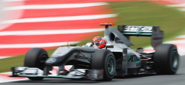 Espanjan gp:n harjoitusten yllättäjä oli Michael Schumacher.