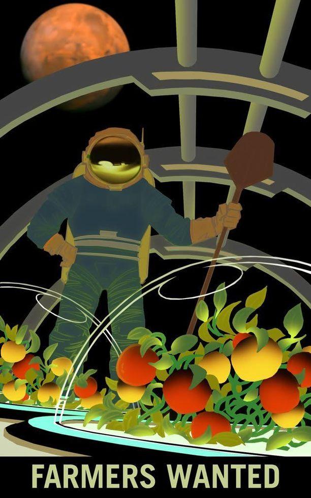 Kun Marsiin vihdoin päästään, suurten välimatkojen vuoksi on arvioitu, että ruoka olisi kasvatettava itse.