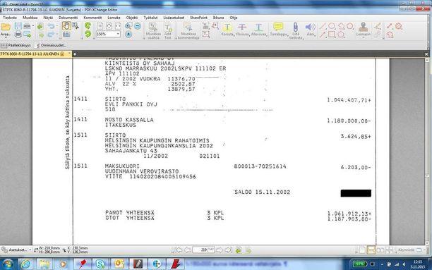 Jari Aarnio väitti oikeudessa saaneensa liki puoli miljoonaa käteistä edesmenneeltä liikemieheltä.
