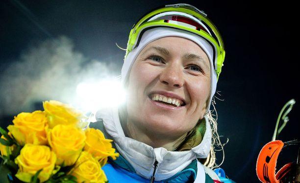 Darja Domratsheva päätti uransa voittajana. Uran viimeiseksi maailmancupin kilpailuksi jäi Venäjän Tjumenissa käyty yhteislähtökisa, jonka valkovenäläinen voitti.