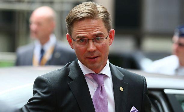 Pääministeri Jyrki Katainen (kok) saapui Brysselin huippukokoukseen torstaina.
