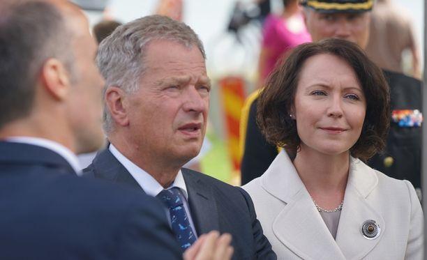Tasavallan presidentti Sauli Niinistö ja puoliso Jenni Haukio Ahvenanmaalla keskiviikkona.