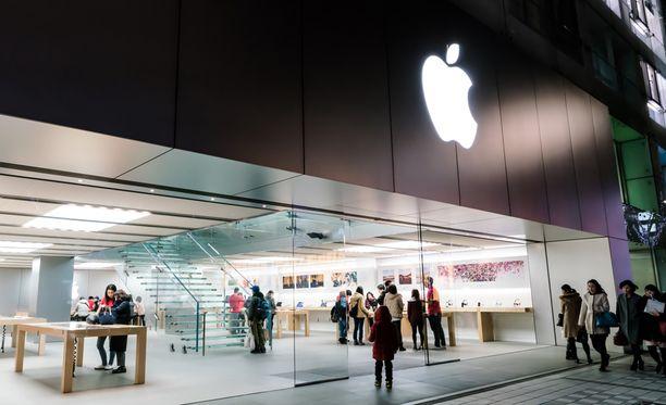 Applen myymälä Japanin Nagoyassa.