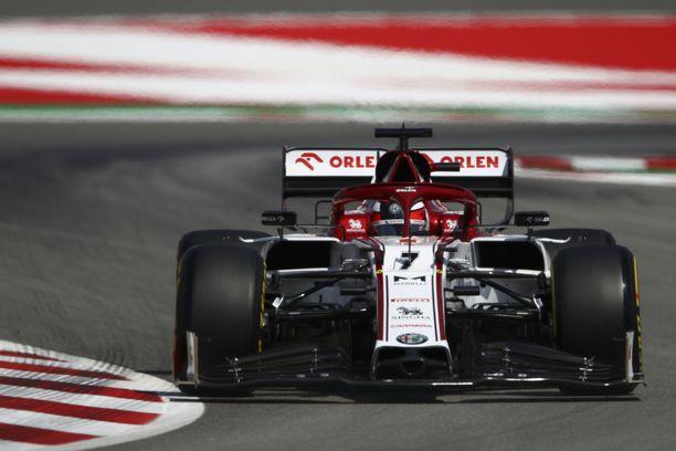 Kimi Räikkönen ajoi Alfa Romeon kauden parhaimman aika-ajotuloksen.