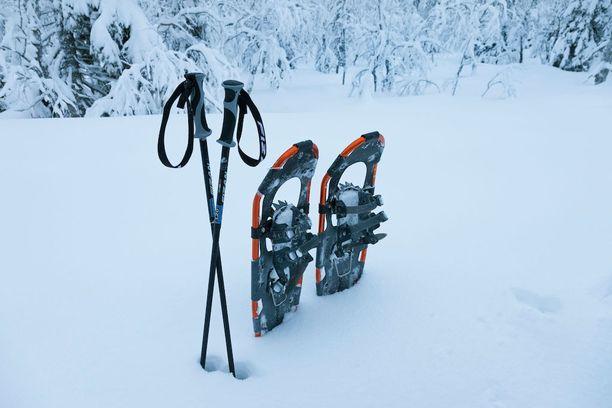 Lumikengillä liikkuva pääsee paikkoihin, jotka voivat talvella muuten olla saavuttamattomia.